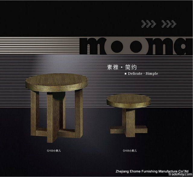 Wooden Little Round Table