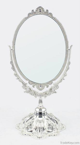 Metal cosmetic mirror