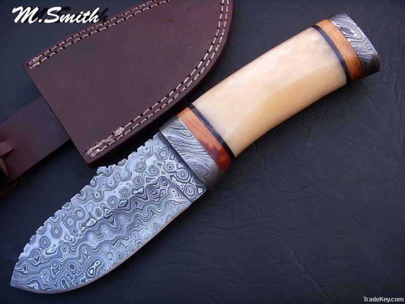 Damascus Hunting Knife