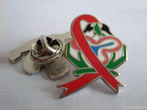 Custom metal lapel pin with company logo