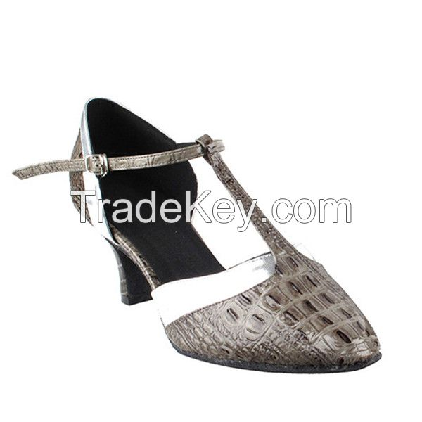 Lady Pu Latin Shoes with Buckle[JGB050601]