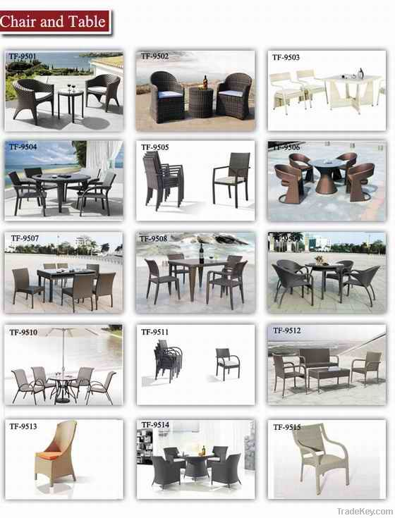 garden living room coffee table and chair set