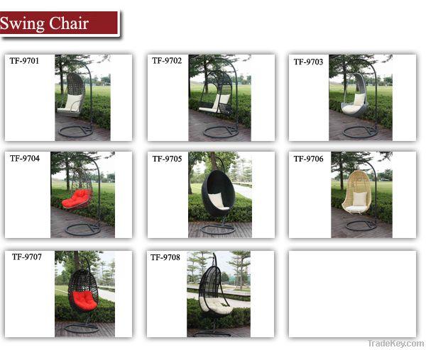 Rattan swing hanging chair