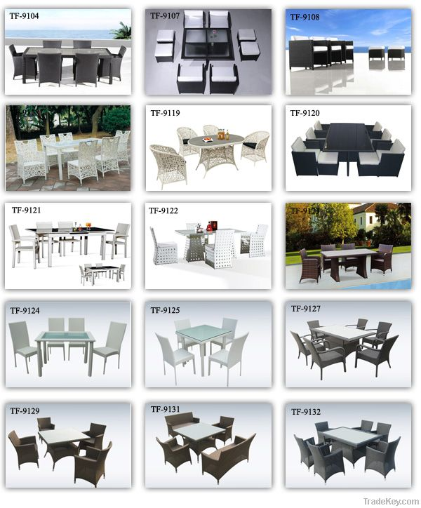 Modern Rattan dining table set