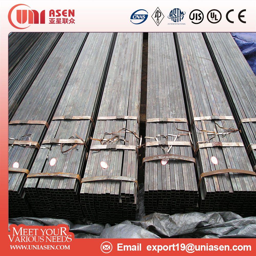 Black annealed Square Steel Pipe rectangular steel pipe round steel pipe