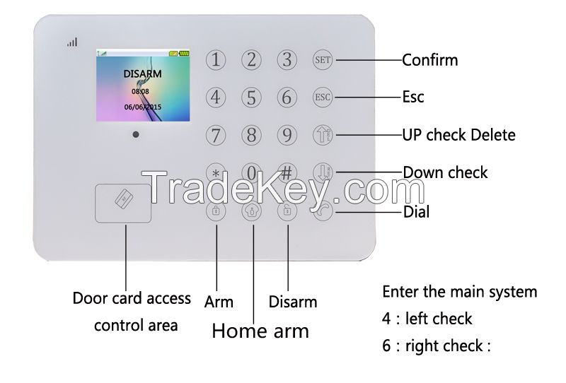 TFT Touch Screen Home Guard GSM SMS Alarm System Smart Burglar Alarm System