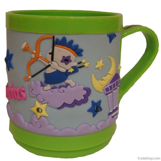 2012 New Arrival Plastic mug, Promotional Soft PVC Mugs