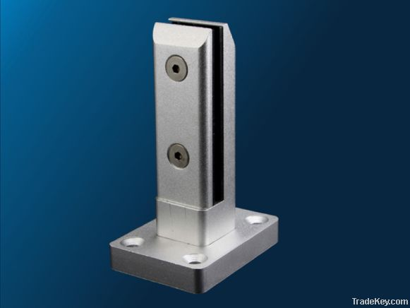 Glass Fencing - Aluminum Spigot (Glass clamp) with base plate
