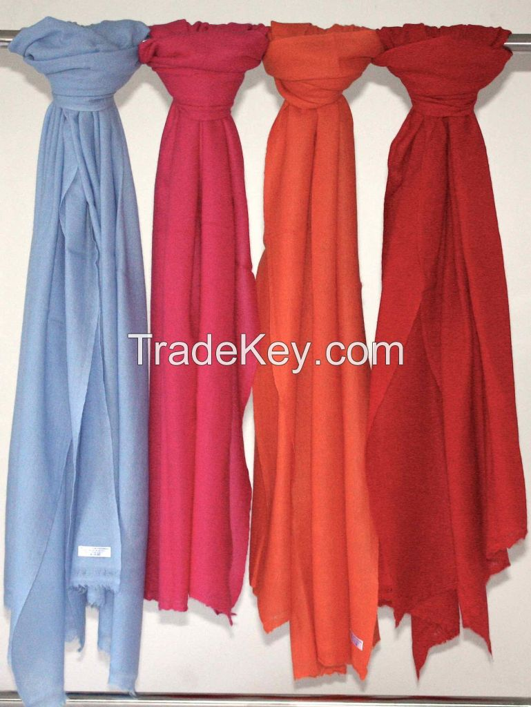 100% Cashmere Stole - Solid Colors