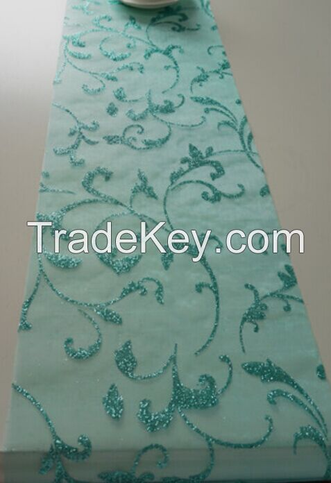 glitter organza table runner chemin de table
