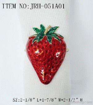 Colorful fruit metal napkin ring