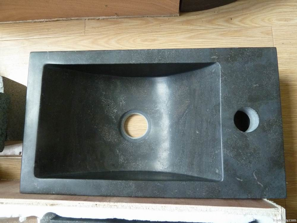 blue limestone washing basin