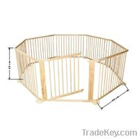 8 angle wooden playpen