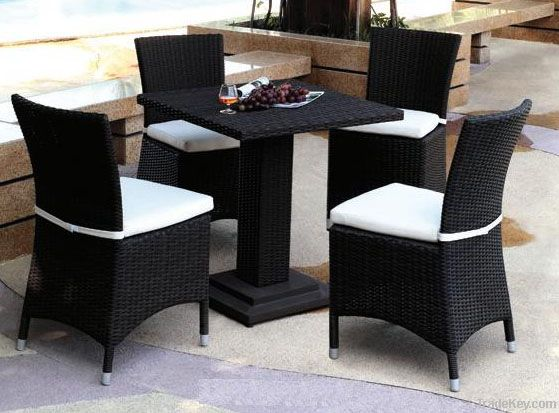 rattan dining set:ESR-9362