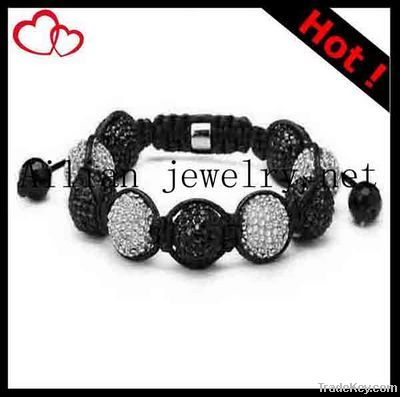 2012 latest Fashion shamballa bracelet with rhinestone