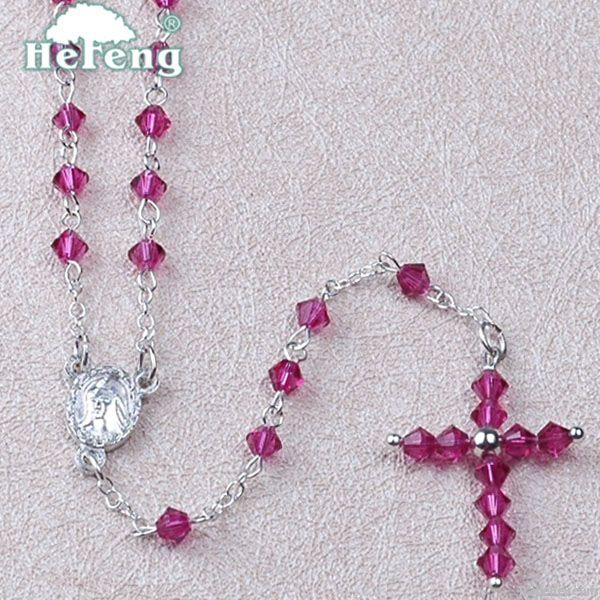 rosary, Crystal Rosary/Child Rosary, fashion crystal rosary