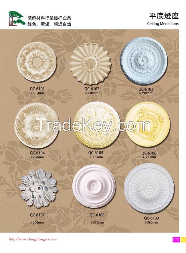 PU ceiling medallions/PU Ceiling Domes/Ceiling Roses