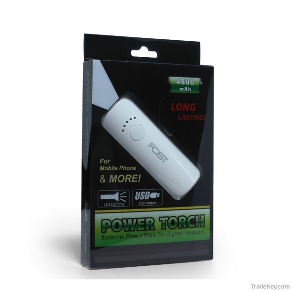 FOST 4800mah with 5V 2A output emergency battery charger for phones