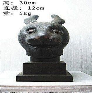 bronze antique imitation: Rabbit's Head