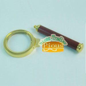 Small Magnifier with Redwood handle/Jewelry tool loupe