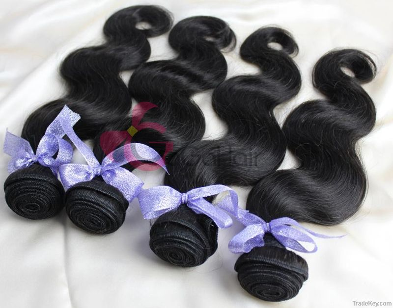 2014 New Brazilian Virgin Human Hair Weaving 12-30 Hair extensions