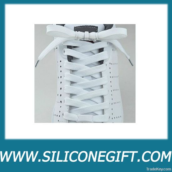 silicone shoelaces with metal aglet end fittings