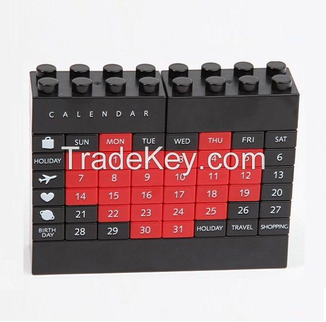Changeable DIY Perpetual Calendar,DIY educational Building block,Plastic puzzle DIY calendar