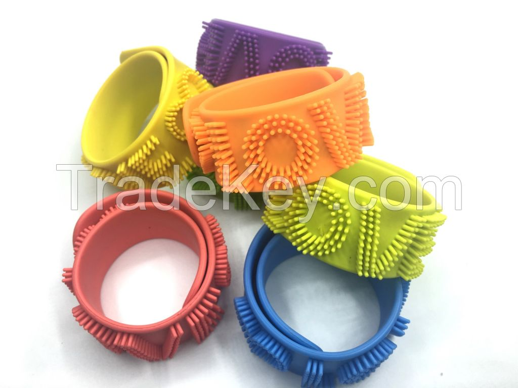 Cheap Custom Blank Silicone Slap Bracelet , Silicone Wristband With Customer Logo
