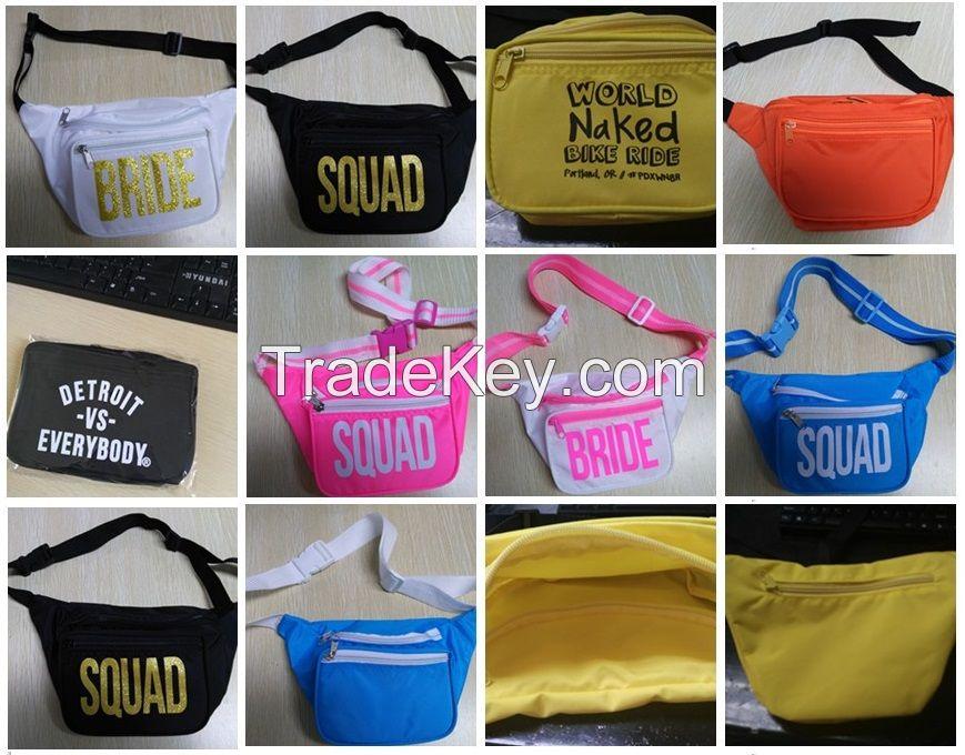Colorful Sport waist bag, running belt waist bag fanny pack