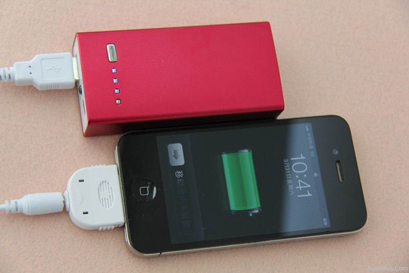 2012 hottest external portable power charger for iphone/ipad
