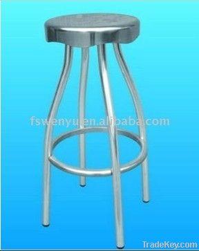 High Leg Anodized Aluminum Four Leg Bar Stool