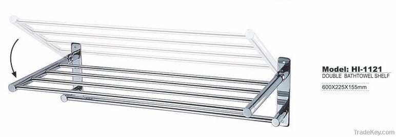 foldable stainless steel towel rack, chrome towel rail
