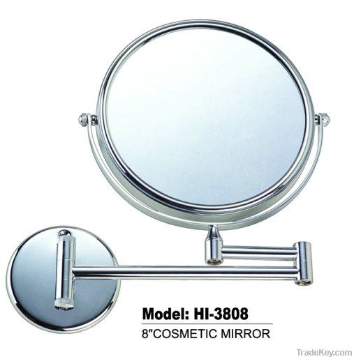 wall mounted brass chrome double side makeup mirror