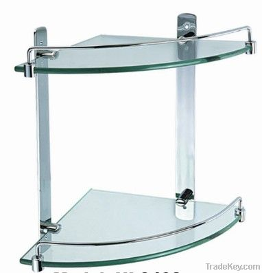 stainless steel bathroom 2 layer coner shelf