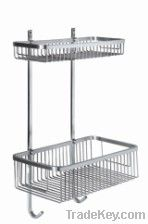 Wall mounted bathroom wire basket, net shelf,