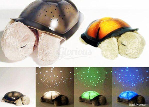 Novelty LED Projector Twilight Turtle Night Light Stars Constellation