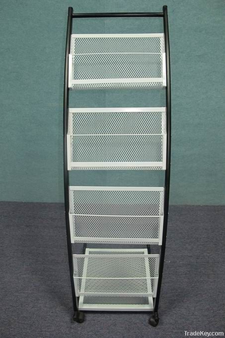 Metal brochure display