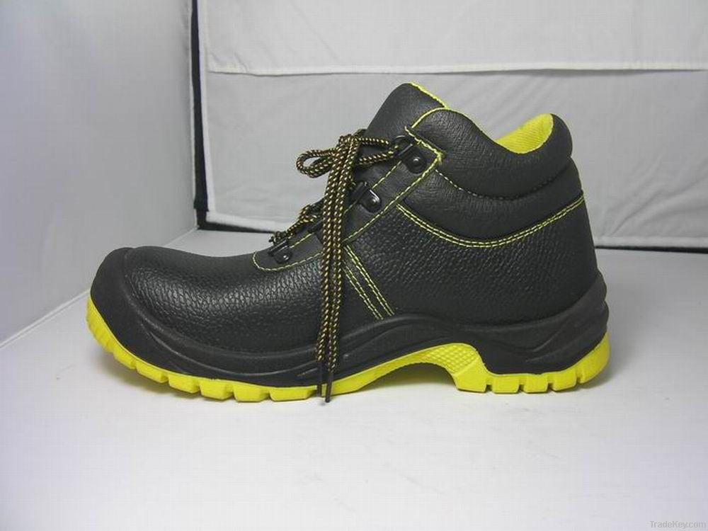Working Safety Shoes Buffalo Leather Second Embossed PU
