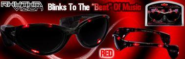 RED Rhythm Vizion Sound Activated Sunglasses