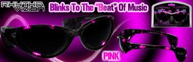 PINK Rhythm Vizion Sound Activated Sunglasses