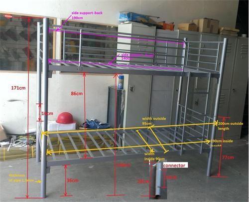 Detachable Metal Bunk Bed YX-A10