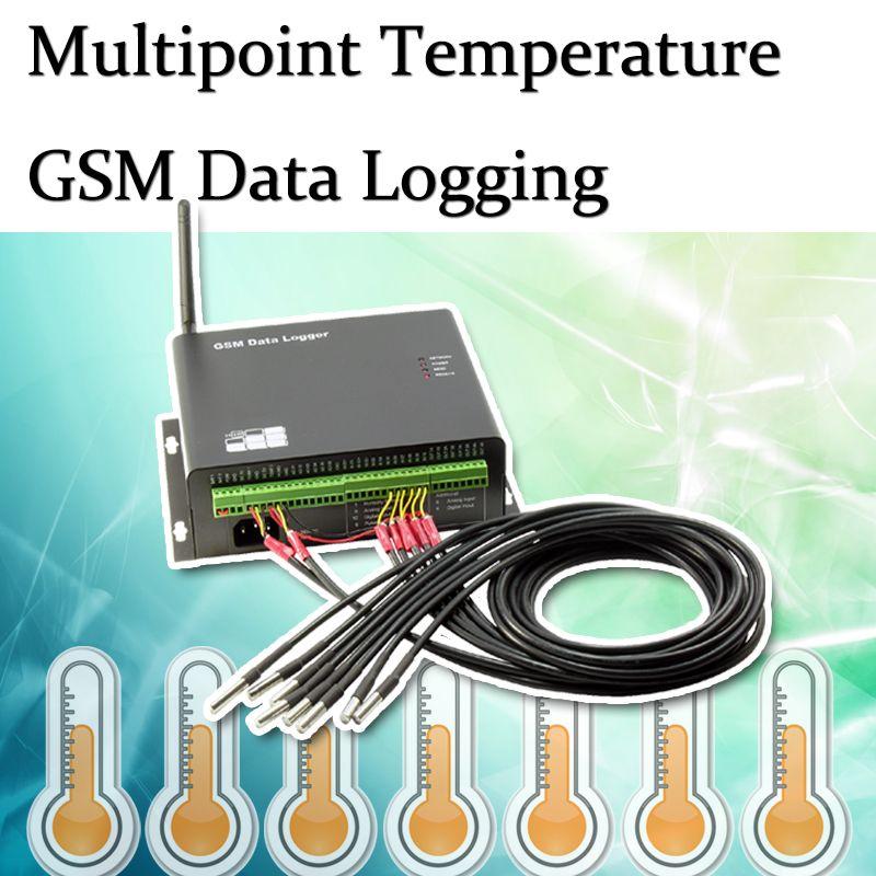Multipoint Temperature GSM Data Logger