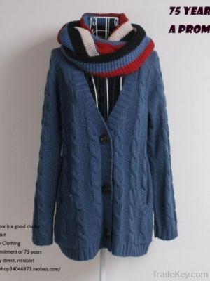 Wholesale Fashion Long Sleeve Simple Sweater Coat