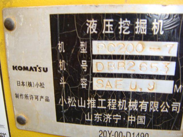 Used Komatsu excavator
