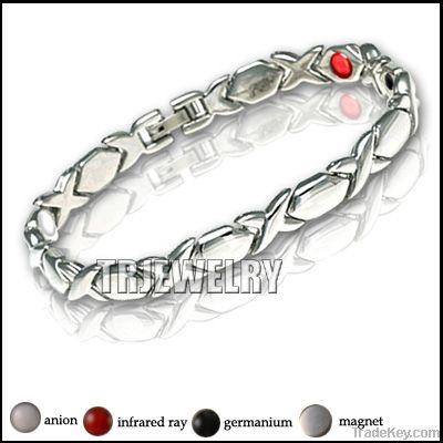 stainless steel magnetic health bracelet