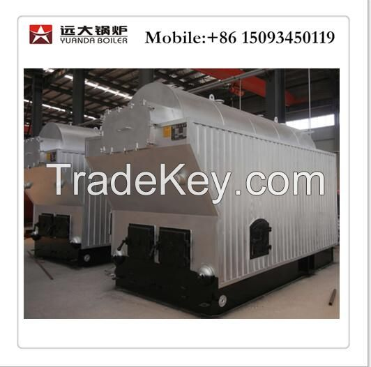 Wood fired steam boiler for industry