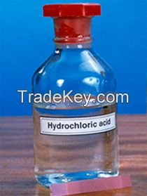 Transparent Liquid Hydrochloric Acid 31% 32% 33% 35% 36% 37%  for sale