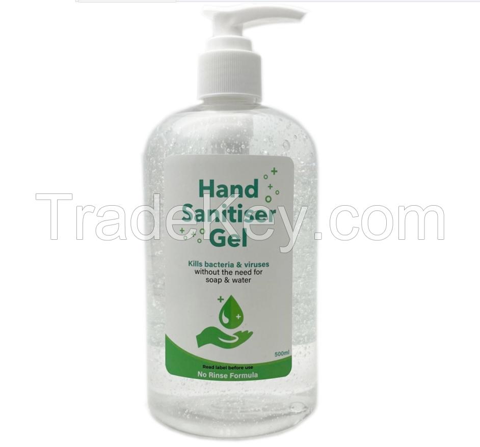 Wholesale Antibacterial Water less Antiseptic Liquid Hand Sanitizer Gel Wash - 75% Alcohol