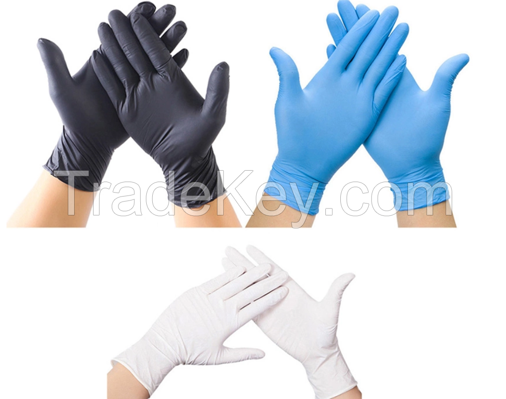 CE, ISO Certified Disposable Powder Free Latex Nitrile Medical Gloves - Free Samples