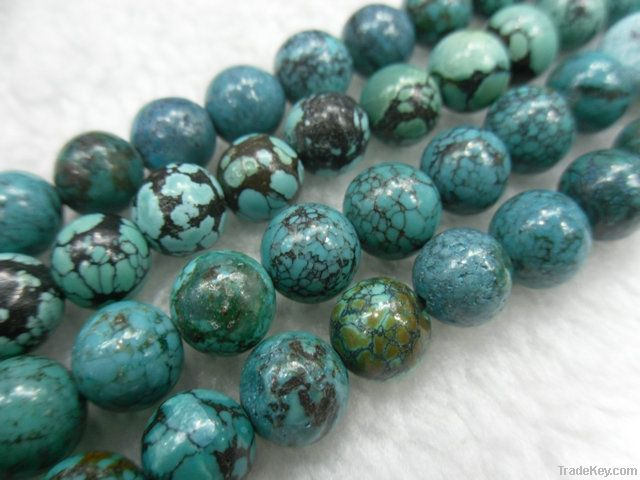Natural turquoise round beads/Semi-precious stone loose beads/Gemstone
